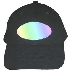 Multi Color Pastel Background Black Cap