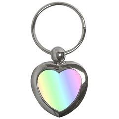 Multi Color Pastel Background Key Chains (heart)  by Simbadda
