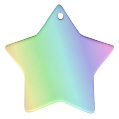 Multi Color Pastel Background Star Ornament (two Sides)