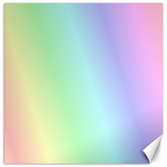 Multi Color Pastel Background Canvas 16  X 16   by Simbadda