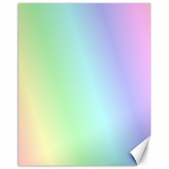 Multi Color Pastel Background Canvas 11  X 14   by Simbadda