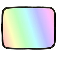 Multi Color Pastel Background Netbook Case (large) by Simbadda