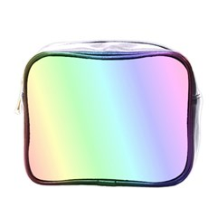Multi Color Pastel Background Mini Toiletries Bags by Simbadda