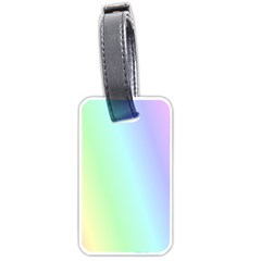 Multi Color Pastel Background Luggage Tags (two Sides) by Simbadda