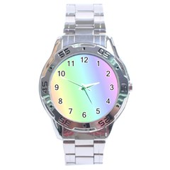 Multi Color Pastel Background Stainless Steel Analogue Watch by Simbadda