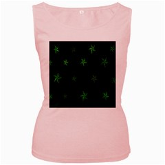 Nautical Star Green Space Light Women s Pink Tank Top