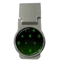 Nautical Star Green Space Light Money Clips (round)  by Alisyart