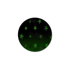 Nautical Star Green Space Light Golf Ball Marker by Alisyart