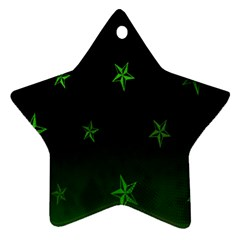 Nautical Star Green Space Light Star Ornament (two Sides) by Alisyart