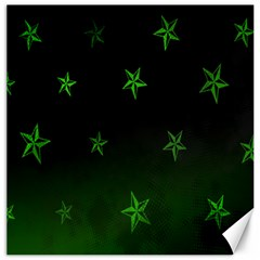 Nautical Star Green Space Light Canvas 12  X 12   by Alisyart