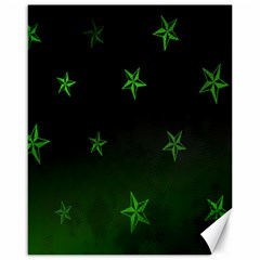 Nautical Star Green Space Light Canvas 16  X 20   by Alisyart