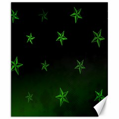Nautical Star Green Space Light Canvas 20  X 24   by Alisyart