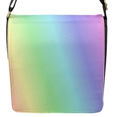 Multi Color Pastel Background Flap Messenger Bag (s) by Simbadda