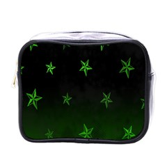 Nautical Star Green Space Light Mini Toiletries Bags by Alisyart