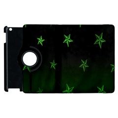 Nautical Star Green Space Light Apple Ipad 3/4 Flip 360 Case by Alisyart