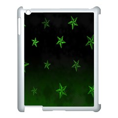 Nautical Star Green Space Light Apple Ipad 3/4 Case (white)