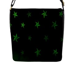 Nautical Star Green Space Light Flap Messenger Bag (l)