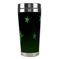 Nautical Star Green Space Light Stainless Steel Travel Tumblers by Alisyart