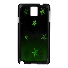 Nautical Star Green Space Light Samsung Galaxy Note 3 N9005 Case (black) by Alisyart
