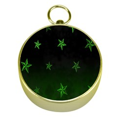 Nautical Star Green Space Light Gold Compasses by Alisyart