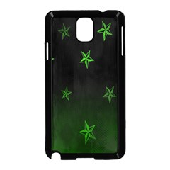 Nautical Star Green Space Light Samsung Galaxy Note 3 Neo Hardshell Case (black)