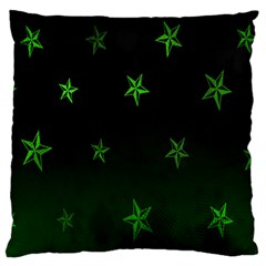 Nautical Star Green Space Light Standard Flano Cushion Case (two Sides) by Alisyart
