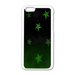 Nautical Star Green Space Light Apple Iphone 6/6s White Enamel Case by Alisyart