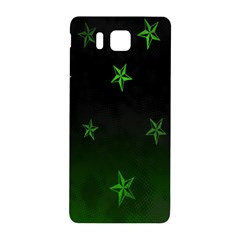 Nautical Star Green Space Light Samsung Galaxy Alpha Hardshell Back Case by Alisyart
