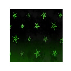 Nautical Star Green Space Light Small Satin Scarf (square)