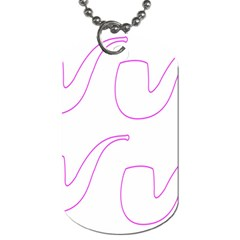 Pipe Template Cigarette Holder Pink Dog Tag (two Sides)