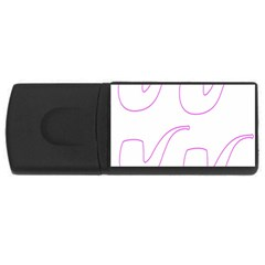Pipe Template Cigarette Holder Pink Usb Flash Drive Rectangular (4 Gb) by Alisyart