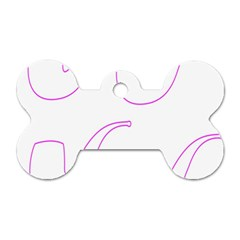 Pipe Template Cigarette Holder Pink Dog Tag Bone (one Side)