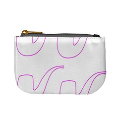 Pipe Template Cigarette Holder Pink Mini Coin Purses by Alisyart
