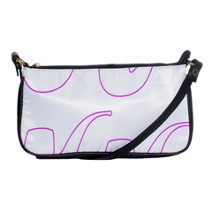 Pipe Template Cigarette Holder Pink Shoulder Clutch Bags by Alisyart