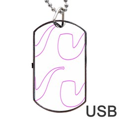 Pipe Template Cigarette Holder Pink Dog Tag Usb Flash (two Sides) by Alisyart