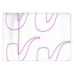 Pipe Template Cigarette Holder Pink Samsung Galaxy Tab 10 1  P7500 Flip Case by Alisyart