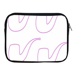 Pipe Template Cigarette Holder Pink Apple Ipad 2/3/4 Zipper Cases by Alisyart