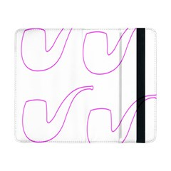 Pipe Template Cigarette Holder Pink Samsung Galaxy Tab Pro 8 4  Flip Case by Alisyart