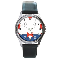 Peppermint Butler Wallpaper Face Round Metal Watch by Alisyart