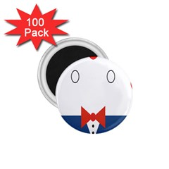 Peppermint Butler Wallpaper Face 1 75  Magnets (100 Pack)  by Alisyart