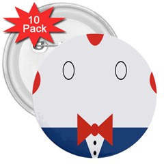 Peppermint Butler Wallpaper Face 3  Buttons (10 Pack)