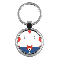 Peppermint Butler Wallpaper Face Key Chains (round)