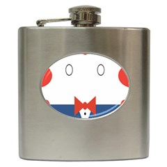 Peppermint Butler Wallpaper Face Hip Flask (6 Oz) by Alisyart