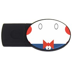 Peppermint Butler Wallpaper Face Usb Flash Drive Oval (2 Gb)