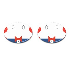 Peppermint Butler Wallpaper Face Cufflinks (oval) by Alisyart