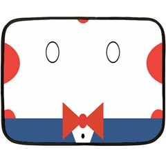 Peppermint Butler Wallpaper Face Fleece Blanket (mini) by Alisyart