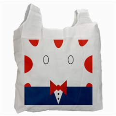 Peppermint Butler Wallpaper Face Recycle Bag (one Side) by Alisyart