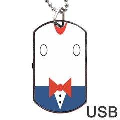 Peppermint Butler Wallpaper Face Dog Tag Usb Flash (two Sides) by Alisyart