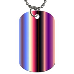 Multi Color Vertical Background Dog Tag (one Side) by Simbadda