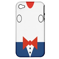 Peppermint Butler Wallpaper Face Apple Iphone 4/4s Hardshell Case (pc+silicone)